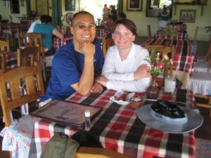 Day 2 in El Salvador, June 2010.  We had lunch at a restaurant in Suchitoto, overlooking Lake Suchitlan